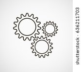 gears on a gray background.... | Shutterstock .eps vector #636211703