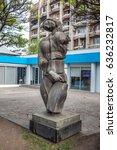 women's statue in tbilisi. 07... | Shutterstock . vector #636232817