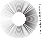 lines in circle form . vector... | Shutterstock .eps vector #636237017