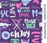 music love motivation lables... | Shutterstock .eps vector #636237473