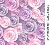 vector roses flowers seamless...   Shutterstock .eps vector #636255683