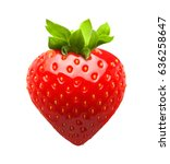 red berry strawberry isolated... | Shutterstock . vector #636258647