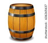Illustration Of Barrel On Whit...