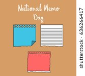 national memo day. suitable for ... | Shutterstock .eps vector #636266417