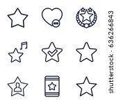 favorite icons set. set of 9...