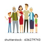 family   colored modern flat... | Shutterstock . vector #636279743