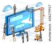 easy to edit vector... | Shutterstock .eps vector #636279917