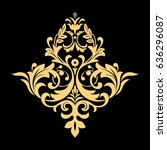 golden vector pattern on a... | Shutterstock .eps vector #636296087