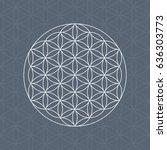 flower of life sacred geometry... | Shutterstock .eps vector #636303773