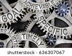 macro photo of tooth wheels... | Shutterstock . vector #636307067
