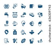 simple icon set of hygiene... | Shutterstock .eps vector #636309743