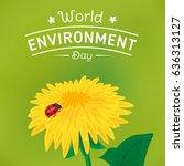 world environment day...   Shutterstock .eps vector #636313127