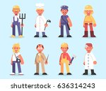 professions collection  farmer  ...   Shutterstock .eps vector #636314243