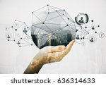close up of hand holding... | Shutterstock . vector #636314633