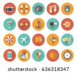 summer holiday  tourism and... | Shutterstock .eps vector #636318347