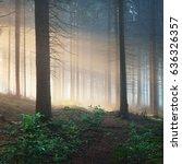 Sun Rays A Dark Misty - Fine Art prints