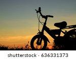 bike silhouette at sunset | Shutterstock . vector #636331373