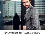portrait of sexy handsome... | Shutterstock . vector #636334697