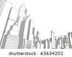 grey city | Shutterstock .eps vector #63634201