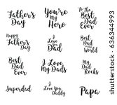 vector icon set of fathers day... | Shutterstock .eps vector #636344993