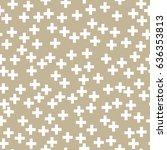white plus sign on gold...   Shutterstock .eps vector #636353813