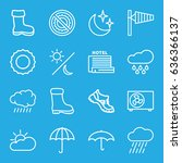 Weather Icons Set. Set Of 16...