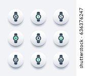 smart watch icons set