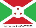 vector burundi flag  burundi... | Shutterstock .eps vector #636376373