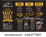 food menu for restaurant and... | Shutterstock .eps vector #636377987