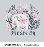 vector tropical print for t... | Shutterstock .eps vector #636380813