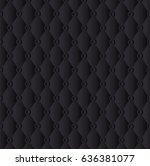 black abstract geometric... | Shutterstock .eps vector #636381077