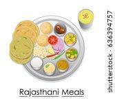 vector illustration of plate... | Shutterstock .eps vector #636394757