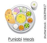 vector illustration of plate... | Shutterstock .eps vector #636394817