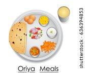 vector illustration of plate... | Shutterstock .eps vector #636394853