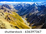 mountain panorama landscape top ... | Shutterstock . vector #636397367
