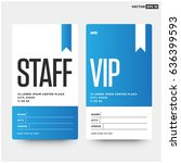 staff and vip entry id card... | Shutterstock .eps vector #636399593