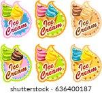 vector set of emblem of multi... | Shutterstock .eps vector #636400187