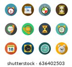 time icons | Shutterstock .eps vector #636402503