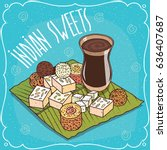 traditional food  popular... | Shutterstock .eps vector #636407687