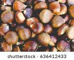 chestnuts picture  vintage... | Shutterstock . vector #636412433