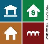 estate icons set. set of 4... | Shutterstock .eps vector #636413063