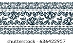 tribal flowers style vector... | Shutterstock .eps vector #636422957
