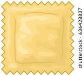 italian ravioli pasta vector... | Shutterstock .eps vector #636428837