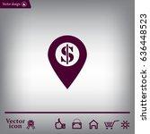dollar pin icon | Shutterstock .eps vector #636448523