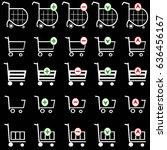 shopping basket vector set  ... | Shutterstock .eps vector #636456167