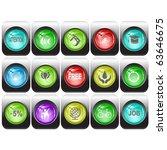 vector set of internet buttons