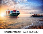 logistics import export... | Shutterstock . vector #636466937