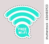 wi fi icon for sticker on the... | Shutterstock .eps vector #636483923