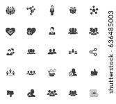 social icons | Shutterstock .eps vector #636485003