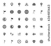 map icons | Shutterstock .eps vector #636485663